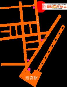 アクセスマップ:豊島区池袋1-8-8